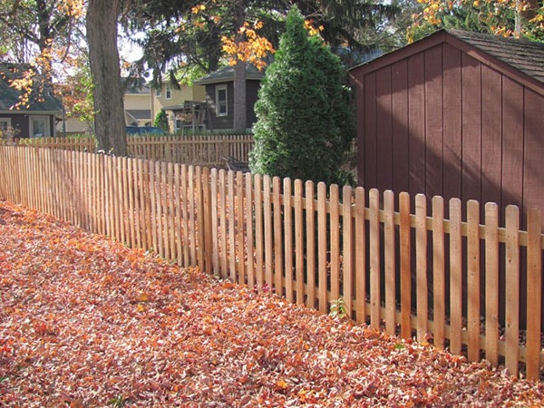 4' Dog Eared Cedar Wood Fence