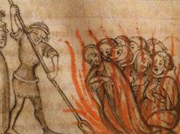 La quema de los templarios