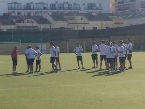 El Villacarrillo instantes antes de jugar en Fuengirola | Villacarrillo