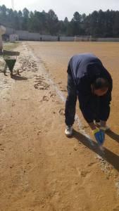 El Montizón tuvo que ser pintado a mano debido a su estado | Sierra Segura CF