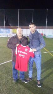 Diego Jopi con la camiseta del Torreperogil   CD Torreperogil