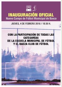 Cartel Inauguracion BAeza