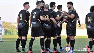 El Jaén celebra uno de sus goles   Juan Pedro Sánchez / Real Jaén CF
