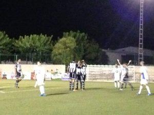 Manuel Ruano celebraba el que sería el gol de la victoria   Pedro Expósito