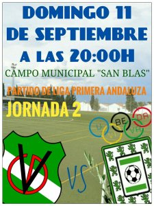 Cartel del partido | CD Villanueva