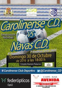 Cartel del partido | CD Carolinense