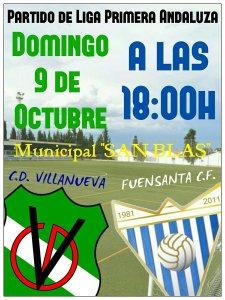 Cartel del partido | CD Villanueva