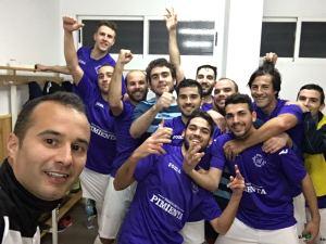 Celebración en el vestuario | AD Porcuna Futsal