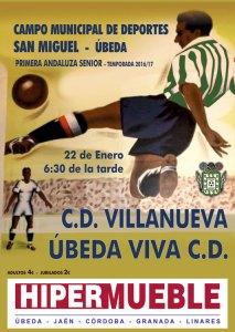 Cartel del partido   CD Úbeda Viva