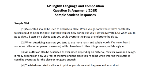 How to Get a 20 on Argument FRQ in AP® English Language