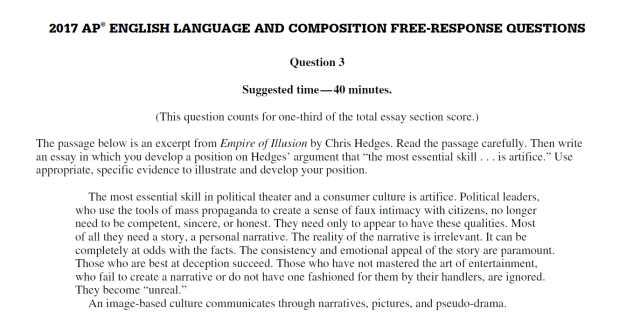 How to Get a 17 on Argument FRQ in AP® English Language