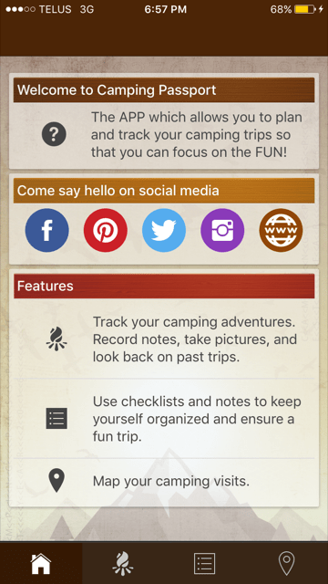 A new app for campers is called Camping Passport!