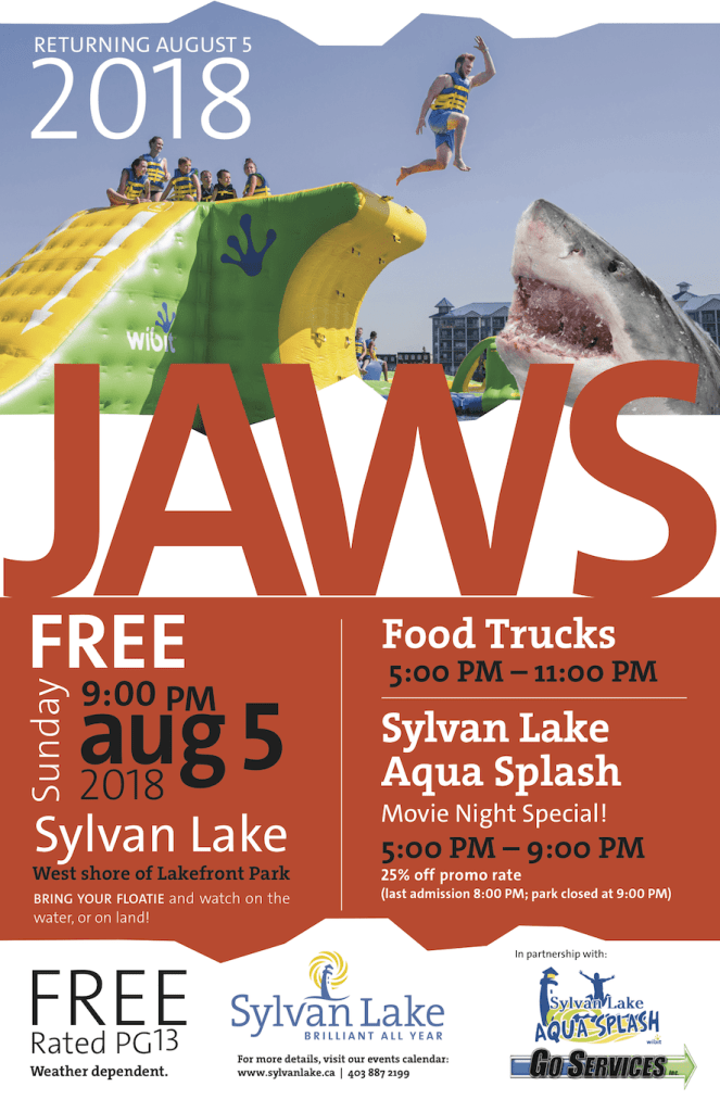 Watch Jaws on the shores of Sylvan Lake!