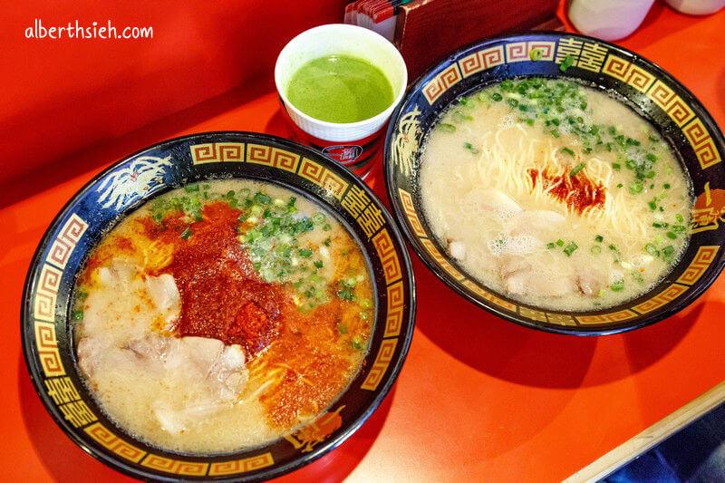 一蘭拉麵總本店.九州福岡必吃(特別的屋台風格用餐區,10倍辣真的有辣)