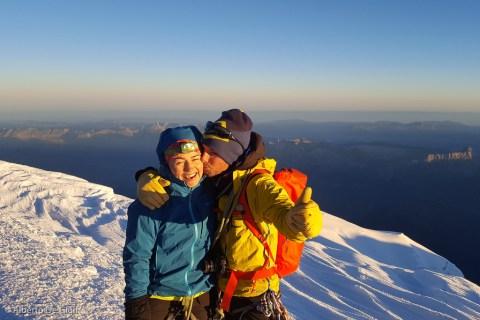 La gioia di essere in vetta. Monte Bianco