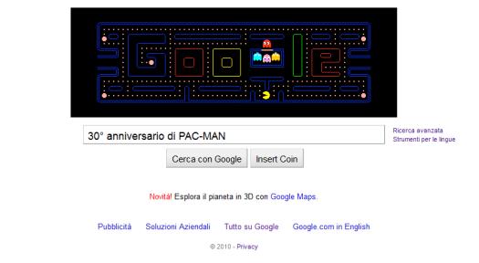 Pacman su google