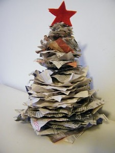 albero natale carta riciclata