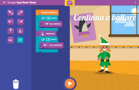 I Giochi E Il Laboratorio Del Coding Di Google Segui Babbo Natale