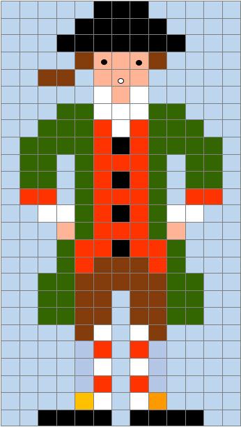 Pixel Art Di Carnevale La Scheda Della Maschera Di Meneghino
