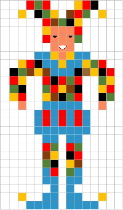 Pixel Art Di Carnevale La Scheda Della Maschera Di Farinella