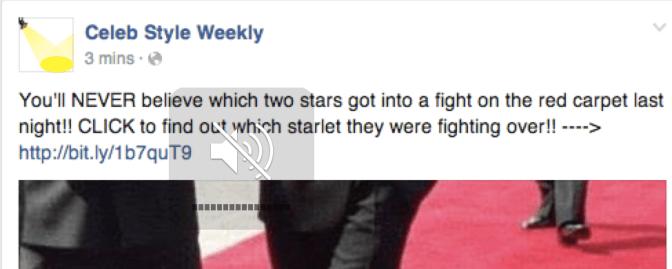 Facebook contro il click baiting