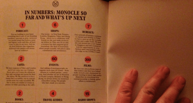 Giornalismo online: Monocle e Delayed Gratification