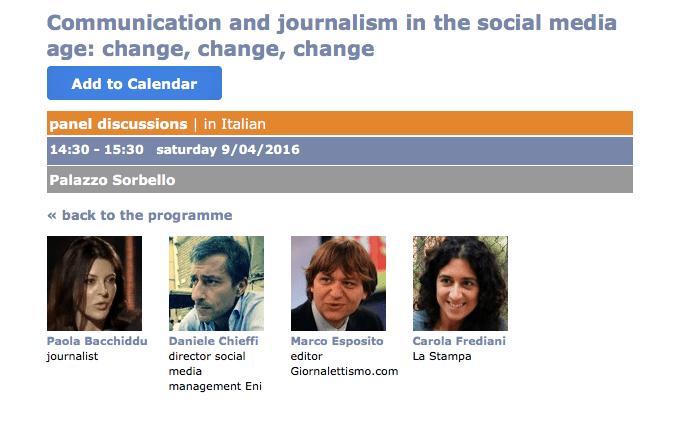 Giornalismo Social all'IJF16