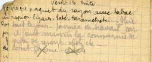 19141113-002 Reçu paquet du rayon