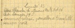 19141123-001 Sommes relevés pour aller à Pierrefitte