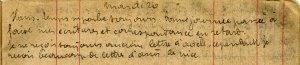 Toujours aucune lettre d'Adèle