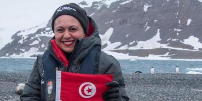 سامية الفقيه أول تونسية تصل إلى القطب المتجمد الجنوبي