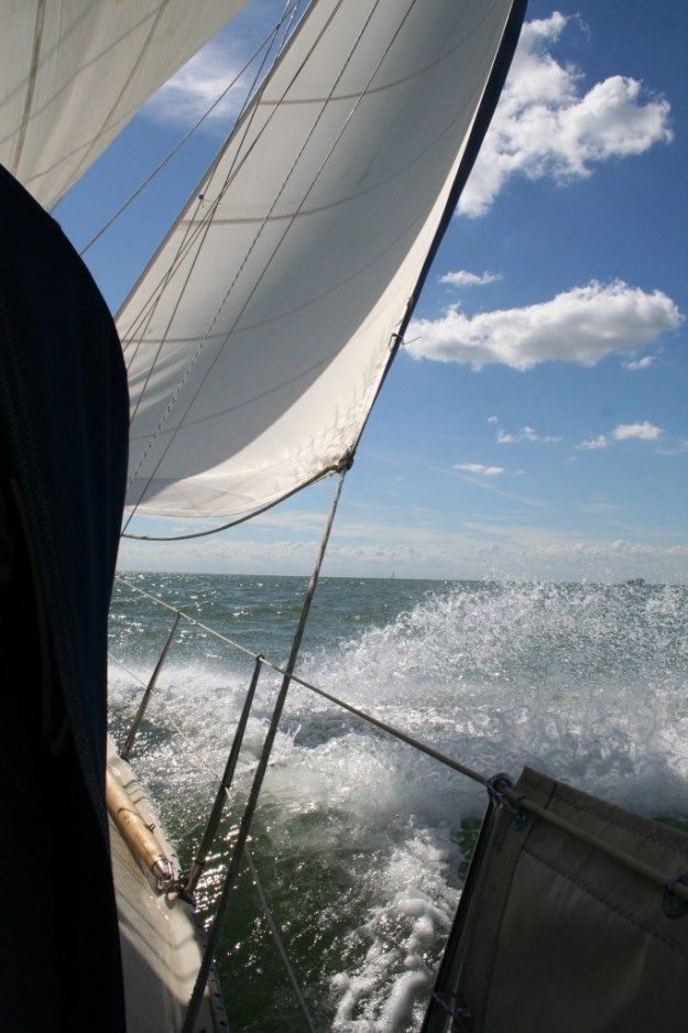 Some cracking sailing on the way back from Cowes to the East Coast