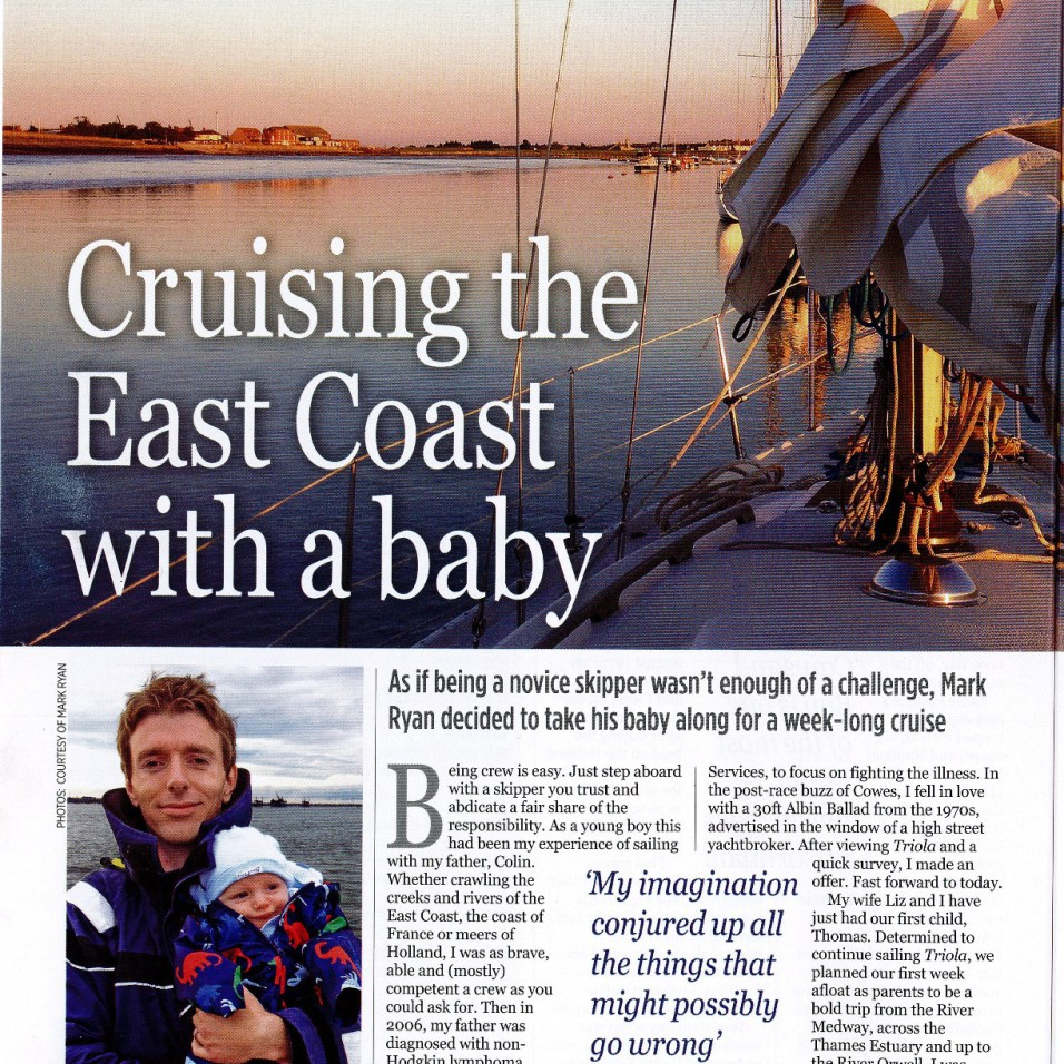 Thomas being famous in Yachting Monthly Page 1