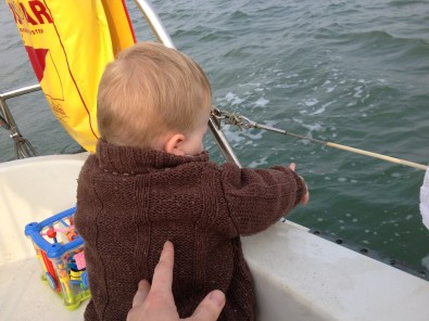 Thomas pointing at waves