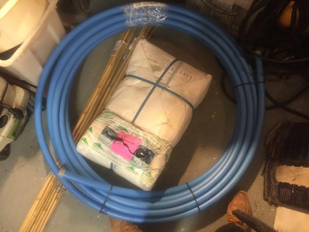 Pipe and tarp