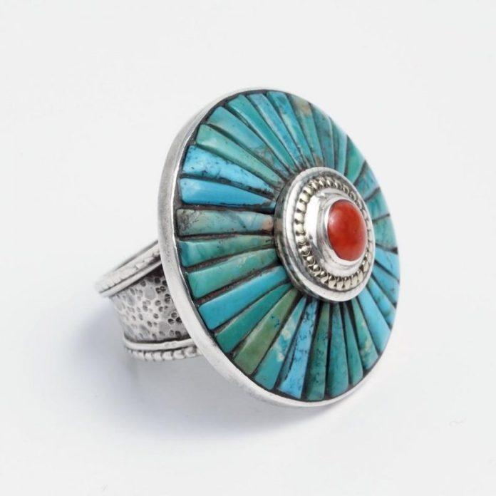 inel-mandala-bhaktapur-argint-turcoaz-tibetan-coral-nepal-inpps0226