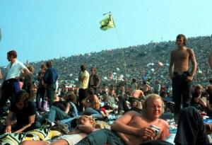 FESTIVAL POP DE L ILE DE WIGHT . AOUT 1970 .