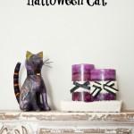 Mixed Media Halloween Cat