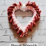 Yarn and Burlap Heart Wreath