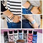 Patent Leather Painted Bracelets