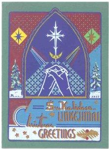 LITHUANIAN CHRISTMAS CARDS OF DR ALEKSANDRAS M RAKUS