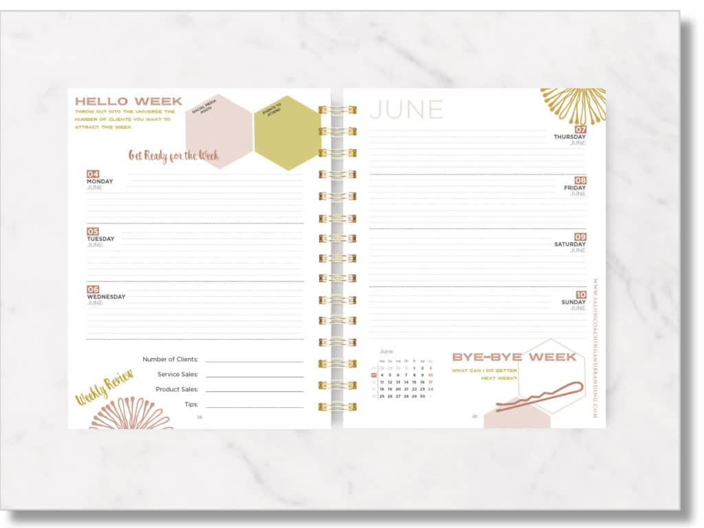 Weekly Planner Sample Pages