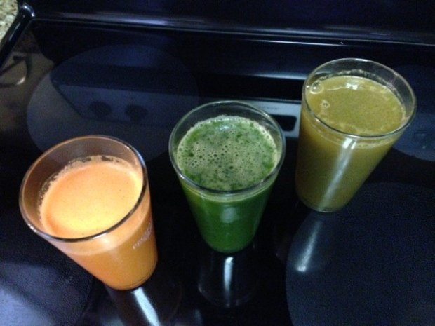 """Breakfast was another mixture of """"Orange"""" Juices. While Lunch was the same with the """"Green"""" Juices. Then we tried the Watermelon Crush again, it proved to be our nemesis."""
