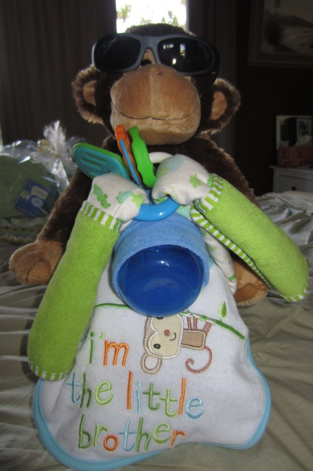 Motorcycle Diaper Cake (front)