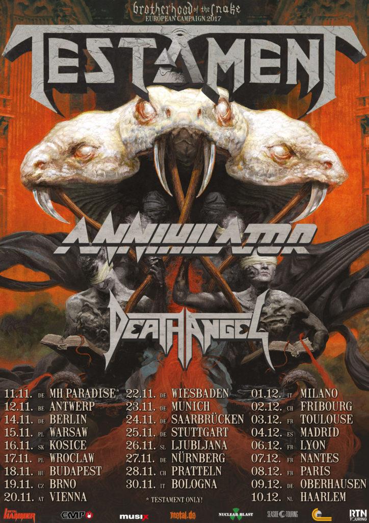 Testament - Brotherhood of the Snake Tour 2017