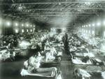 1918 Photo of ill patients at Camp Funston, KS at Camp