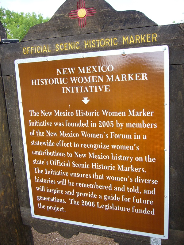 Photo of NM Historic Women Marker