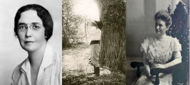 Photo collage of Adelina Otero Warren, Isabella Selmes Ferguson and Maude McFie Bloom