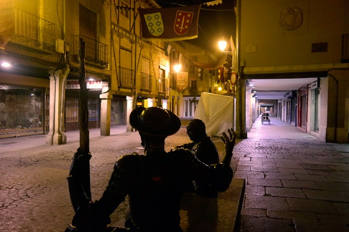 Don Quijote y Sancho en la calle Mayor de Alcalá 2015