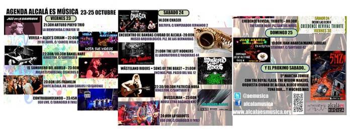 Agenda Alcalá es Música 23 - 25 de octubre